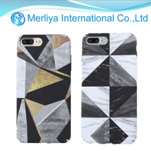 Irregular Figure Geometric Triangle Marble Texture Phone Case for iPhone pictures & photos