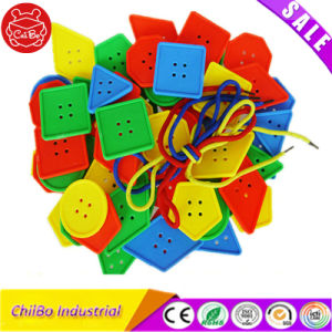 Geometric Threading Plastic Button Education Learning Toy pictures & photos