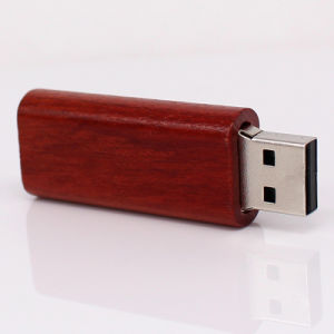 Promotional Gift Redwood USB Flash Drive with Your Logo pictures & photos
