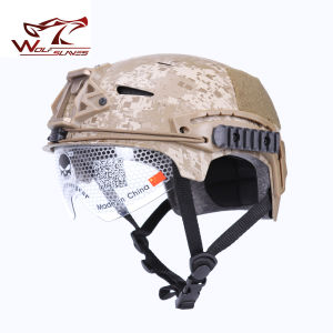 Emerson Exf Bump Windproof Safety Police Camo Helmet with Clear Visor pictures & photos