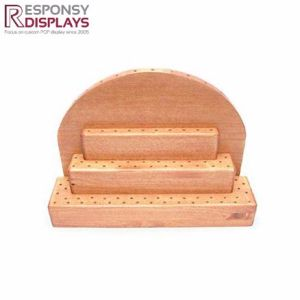 Promotional Sale Snack Rack Counter Wooden Lollipop Display Stand pictures & photos
