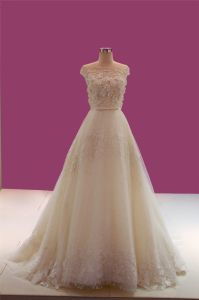 Hot Sale Lace Crystal Wedding Dress pictures & photos
