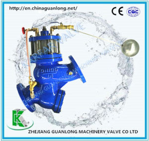 Buildin Strainer Piston Actuated Float Ball Water Level Control Valve (GL98003) pictures & photos