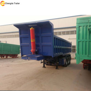 Tri Axle 60 Tons Rear Tipping Tipper Dump Trailer pictures & photos