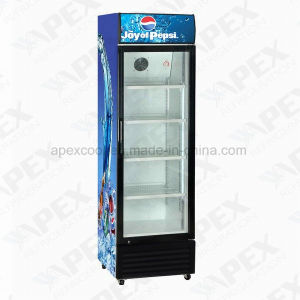 220liter Satandard White Color Single Glass Door Display Cooler pictures & photos