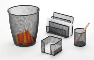 Desk Supplies Set/ Metal Mesh Stationery Office Set/ Office Desk Accessories pictures & photos