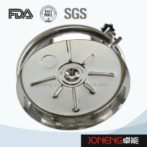 Stainless Steel Hygienic Round Type Manhole with Light (JN-ML2002) pictures & photos