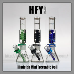 Hfy Glass Factory New Hookah Shisha 12 Inches 7mm Illadelph Smoking Glass Water Pipe Borosilicate with Milli Chip Blue Wholesale Glass Smoking Pipe pictures & photos