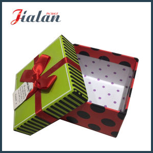 Samll Gifts Wholesale Matte Lamination Gift Paper Box with Bows pictures & photos