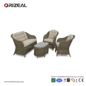 Outdoor Rattan Round High Back Sofa Set Oz-Or070 pictures & photos