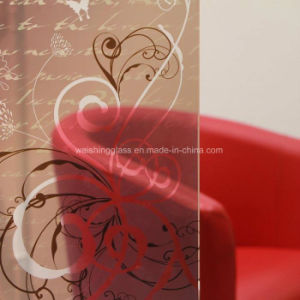 Finger-Free Clear Frosted Glass Pattern Acid Etched Glass Decorative Art Glass pictures & photos