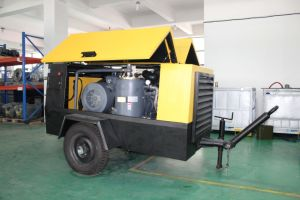 Electric Driven Portable Rotary Screw Air Compressor pictures & photos