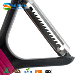 Stainless Steel Blade Kitchen Accessories Vegetable Tools Peeler with Silicone Handle pictures & photos