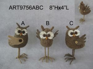 Christmas Decoration Gift Standing Owl-3asst pictures & photos