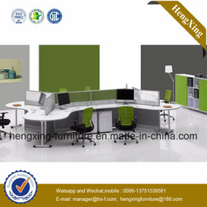 4 Seats Office Furniture Wooden Workstation L Shape Partition Wall (NS-NW033) pictures & photos