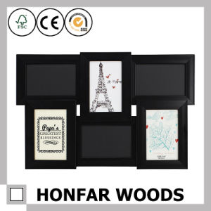 Collage Matt Black Wood Picture Frame for Decoration