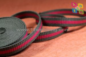 High Quality Stripes Cotton Strap Webbing for Canvas Belt pictures & photos