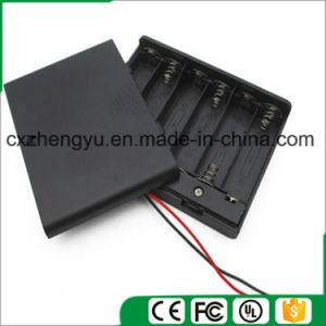 6AA Battery Holder with Red/Black Wire Leads, Cover and Switch pictures & photos