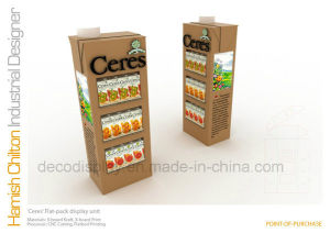 Cardboard Paper Display Shelf Corrugated Display Stand for Retail pictures & photos
