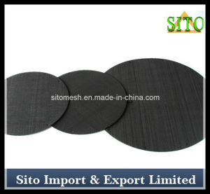 Black Steel Wire Mesh Filter Disc pictures & photos