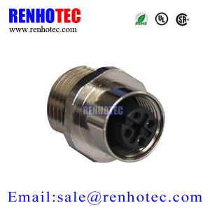 Auto Connector M12 Female Socket Rear Panel Mount Circular Connector pictures & photos