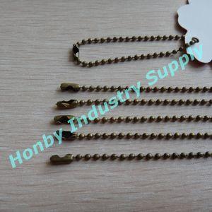 Wholesale for 2.4mm 13cm-15cm/PC Bronze Color 2.4mm Metal Bead Tag Chain pictures & photos