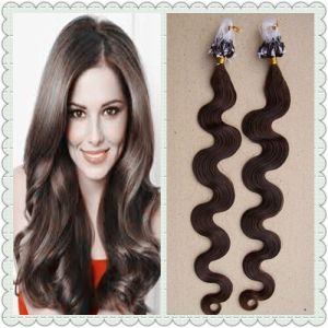 "16""-26"" Micro Loop 6A Quality Wave 100% Remi Hair Extension pictures & photos"