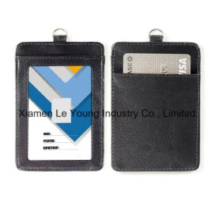 Leather Neck Strap Bussiness Card Holder Container Wallet pictures & photos