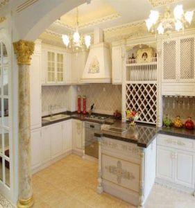 Solid Oak Wood Kitchen Furniture Set (AGK-008) pictures & photos