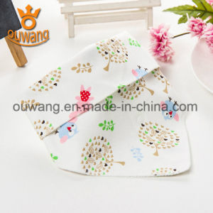 Hot Sale Customized Printing Cotton Baby Bib Bandana pictures & photos