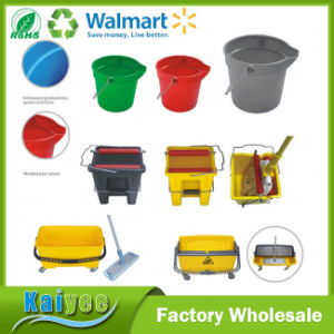 Hotel Housekeeping Plastic Multi-Functional Plastic Cleaning Trolley Janitor Cart pictures & photos