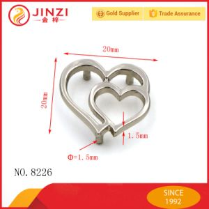 Double Heart Shape Metal Plate with Screw pictures & photos