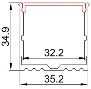 3535 U Shape LED Profile for Ceiling Decoration pictures & photos