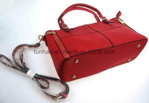 Geometric Patchwork Fashion Design Women PU Handbag Satchels Bag pictures & photos