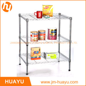 Three Tier Square Shape Display Rack Chrome Finish pictures & photos