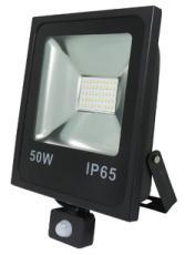 Rectangular Slim 50W LED Floodlightdie-Casting Aluminium Body Tempered Glasses with Flat PIR Sensor pictures & photos