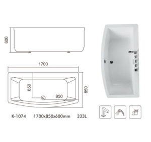 Simple Freestanding Acrylic Bathtub pictures & photos