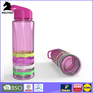 Plastic Sports Water Bottle with Straw pictures & photos