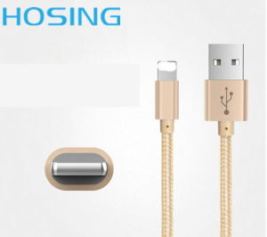 Nylon Braided 2 in 1 Data Trasmission and Power Charging Sync 1m Data Cable for iPhone and Andriod pictures & photos