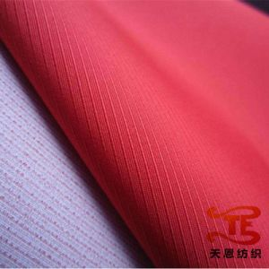 Stripe Pongee Polyester Fabric for Jacket and School Uniform pictures & photos