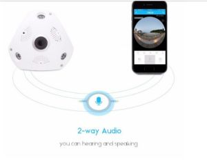 3 Megapixel Network 360 Degree Fisheye Lens Panoramic Wireless 360 Degree IP Camera pictures & photos