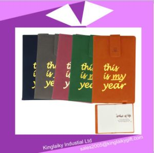 2017 Promotional PU Leather Diary with Logo Printing MOQ 100PCS pictures & photos