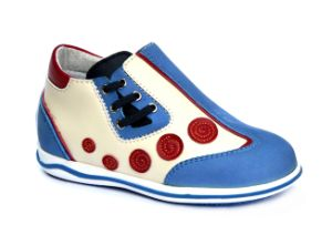 Grace Health Shoes Children Shoes Kids Shoes Gym Shoes Sports Color Shoes Ortho Leather Shoes pictures & photos