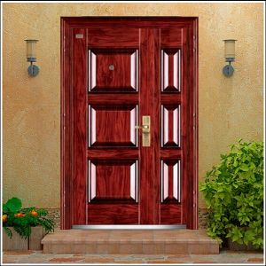 2016 Hot Sale Main Entrance Exterior Single Leaf Steel Door From China pictures & photos