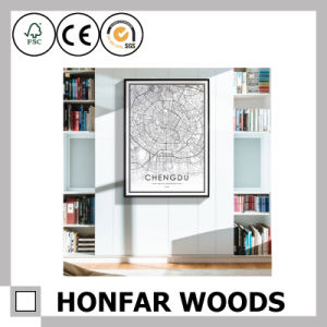 White Wood Painting Poster Frame for Hotel Decoration pictures & photos
