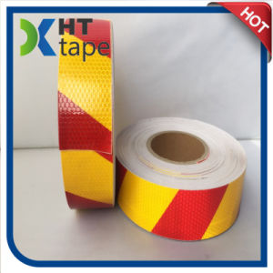 Red and Yellow Twill Pet Reflective Anti Slip Tape pictures & photos