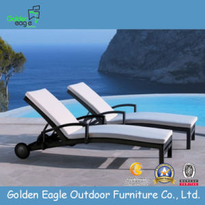 PE Rattan & Aluminum Rattan Beach Sun Lounge (L0036) pictures & photos