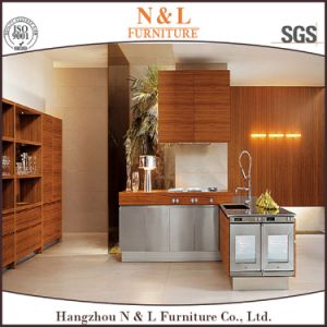 N&L Home Furniture Wood Veneer Kitchen Cabinet Furniture (KC-1410) pictures & photos