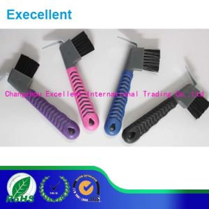Grooming Tool Wholesale Eco Friendly Color Horse Brush with Handle pictures & photos