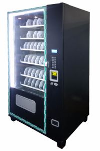 Compact Snack Vending Machine with 9 Columns Vending Machine Operated by Dex Interface pictures & photos